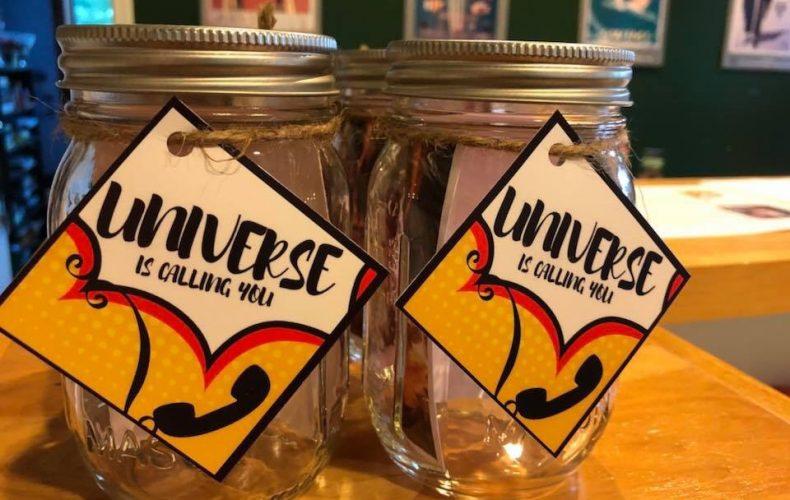 Universe calls mason jars