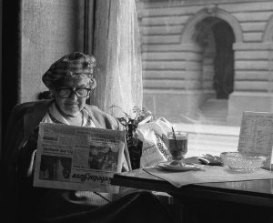 Older women dance and read