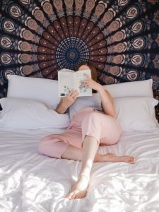 reader in bed